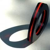 TRIANGOLO  nero-rosso